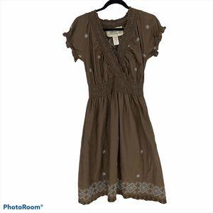 Adventura Dress Organic Cotton Boho Embroidery